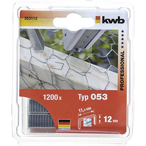 KWB Klammern, Feindraht, Standard, Typ 053/353, C-Spitze, 353-112