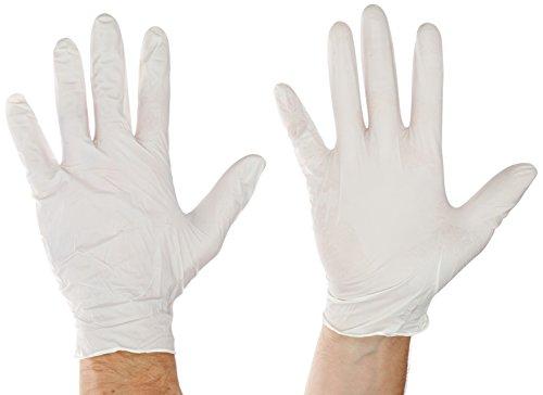 Sempercare 826778437/3000002091 Shine mit Einmalschutz und Untersuchungshandschuhe aus Nitrillatex, puderfrei, Größe Large (8-9), Weiß (150-er pack)