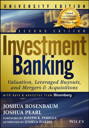 Investment Banking: Valuation, Leveraged Buyouts, and Mergers and Acquisitions (Wiley Finance Editions)